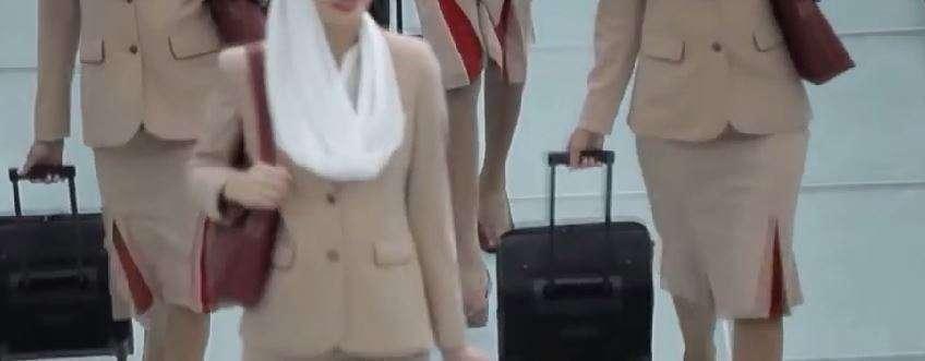 Trabajadoras de Emirates Airlines
