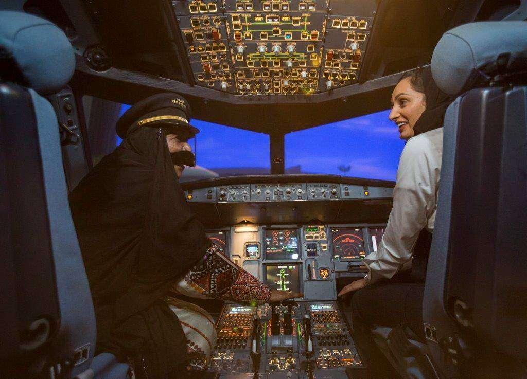 Pilotos femeninos de Etihad Airways.