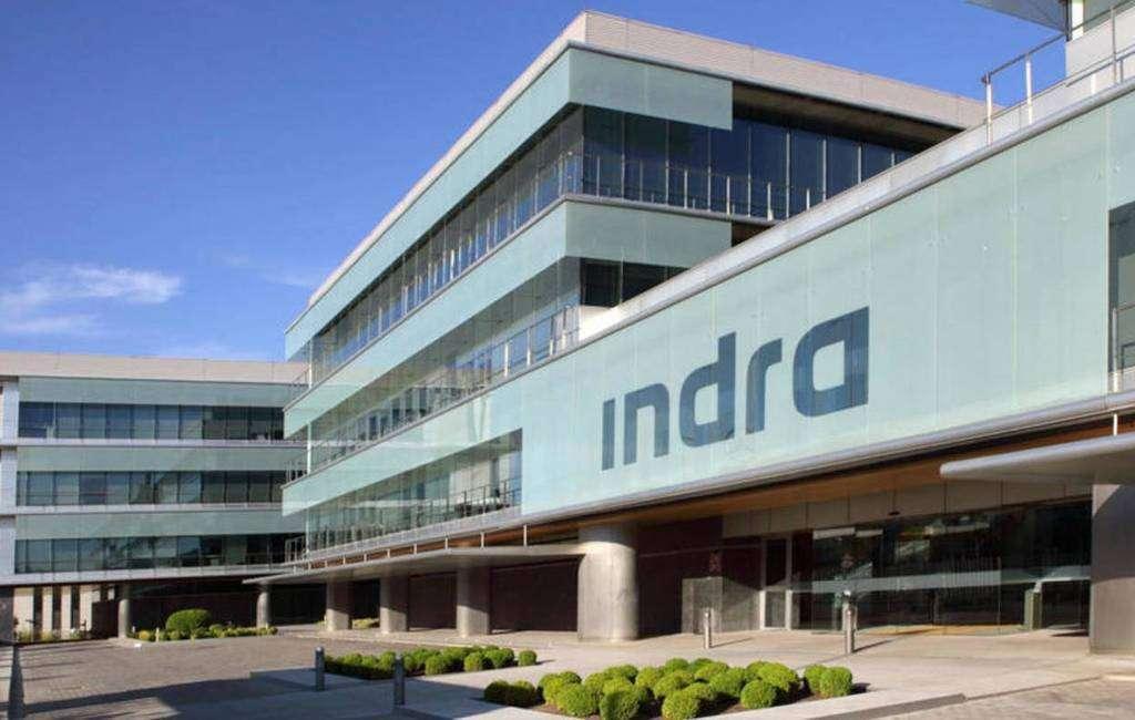 Un edificio de la empresa Indra en España.
