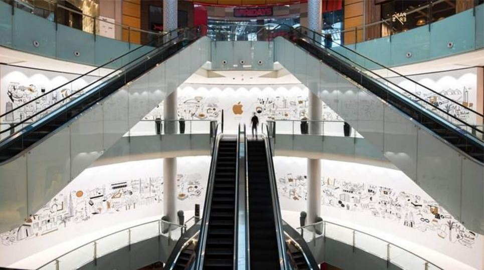 Tienda de Apple en Dubai Mall.