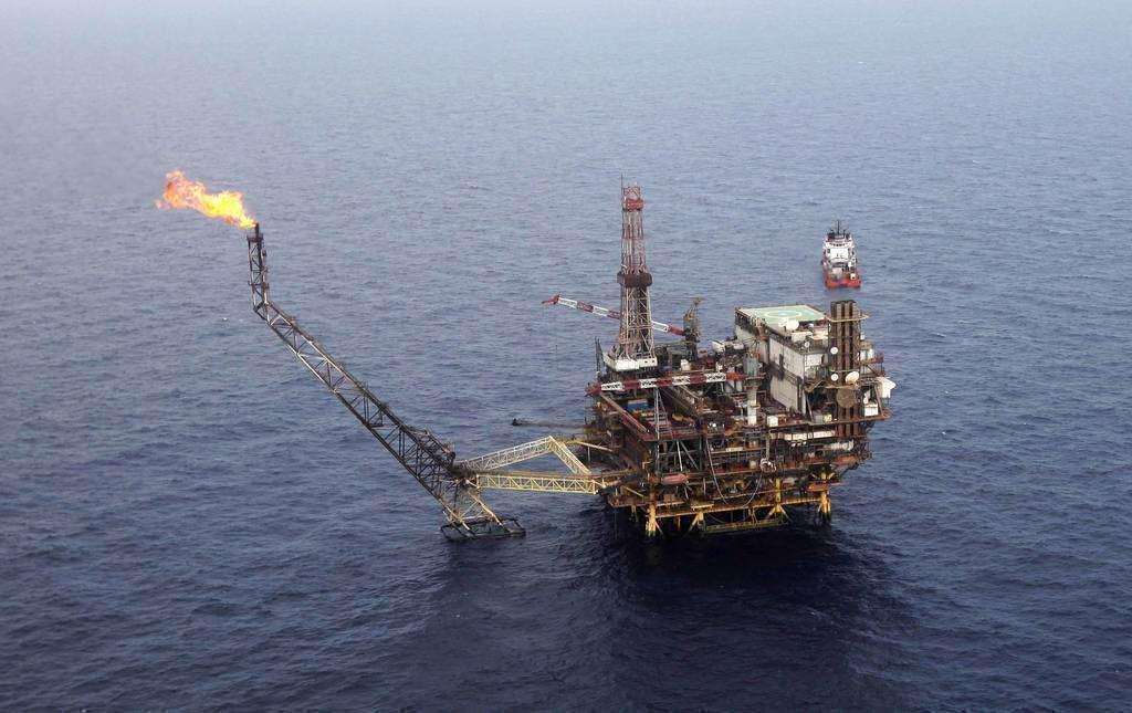 Una plataforma petrolera situada en Abu Dhabi.