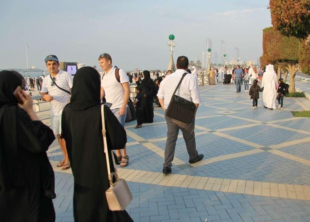 Aspecto de la Corniche de Abu Dhabi. (EL CORREO)
