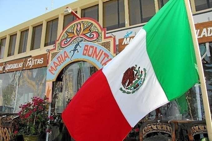El restaurante mexicano María Bonita en el barrio de Jumeirah en Dubai.