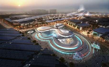 Una maqueta de la futura Expo 2020 de Dubai.