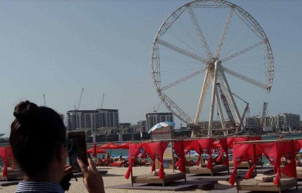 La noria de Dubai . (EL CORREO)