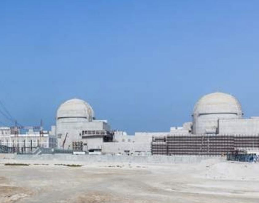 Una imagen de la central nuclear de Barakah en Abu Dhabi.