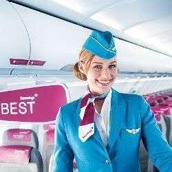 Tripulante de cabina de Eurowings.