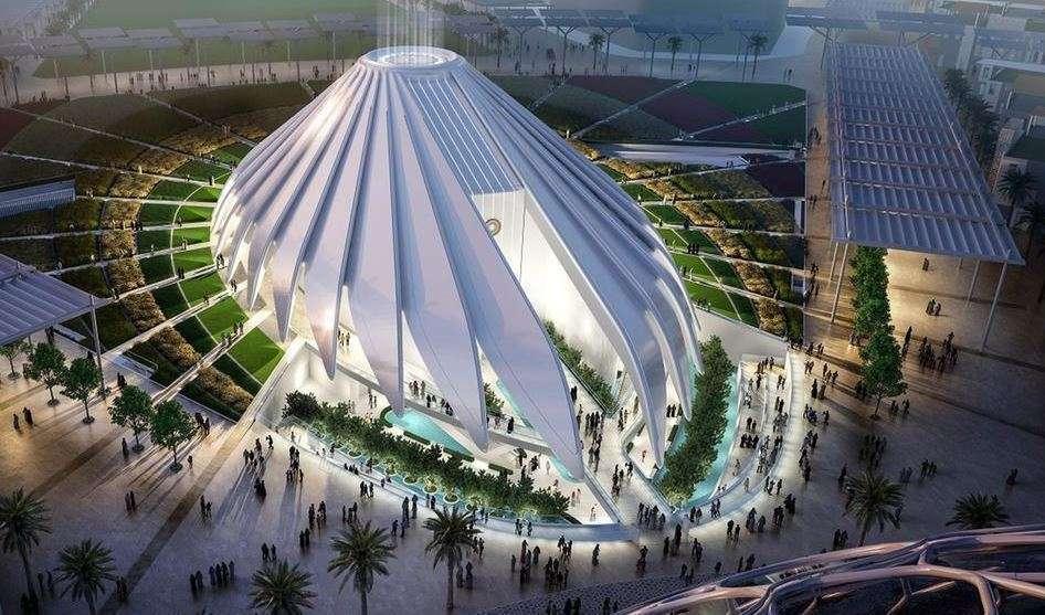 Ilustración del que será el pabellón de Emiratos Árabes en la Expo 2020, diseñado por Santiago Calatrava.