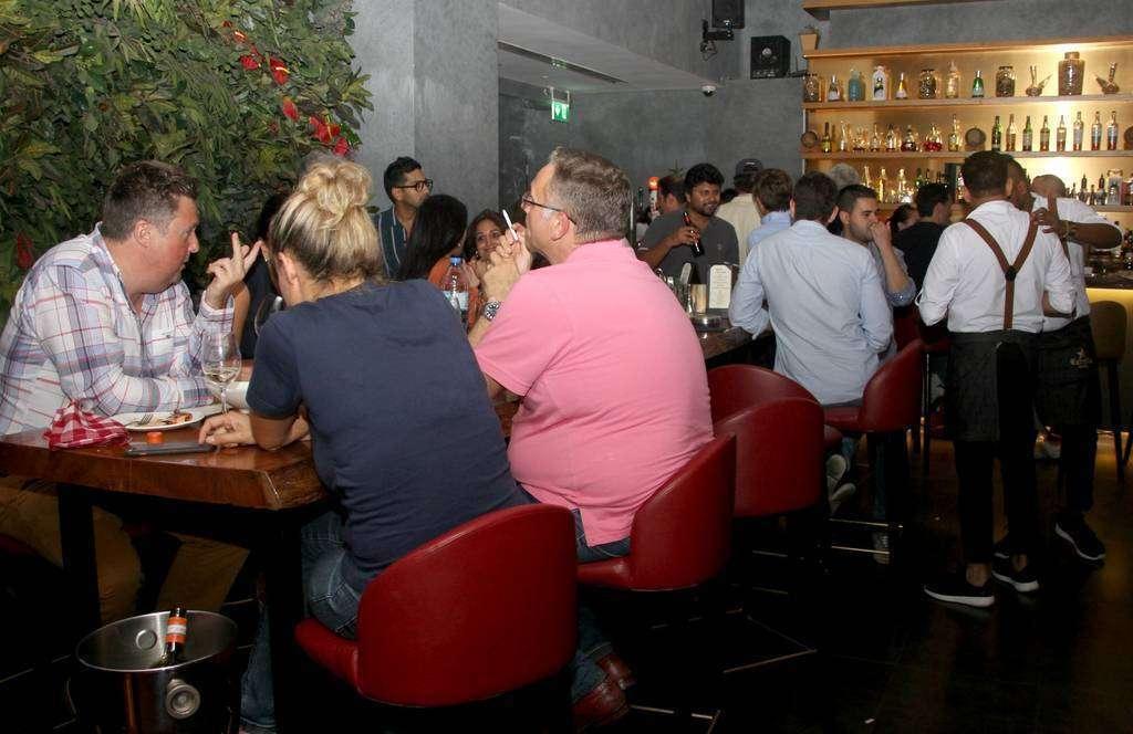 Perspectiva del restaurante El Sur durante la celebración de la Ruta de la Tapa. (EL CORREO)
