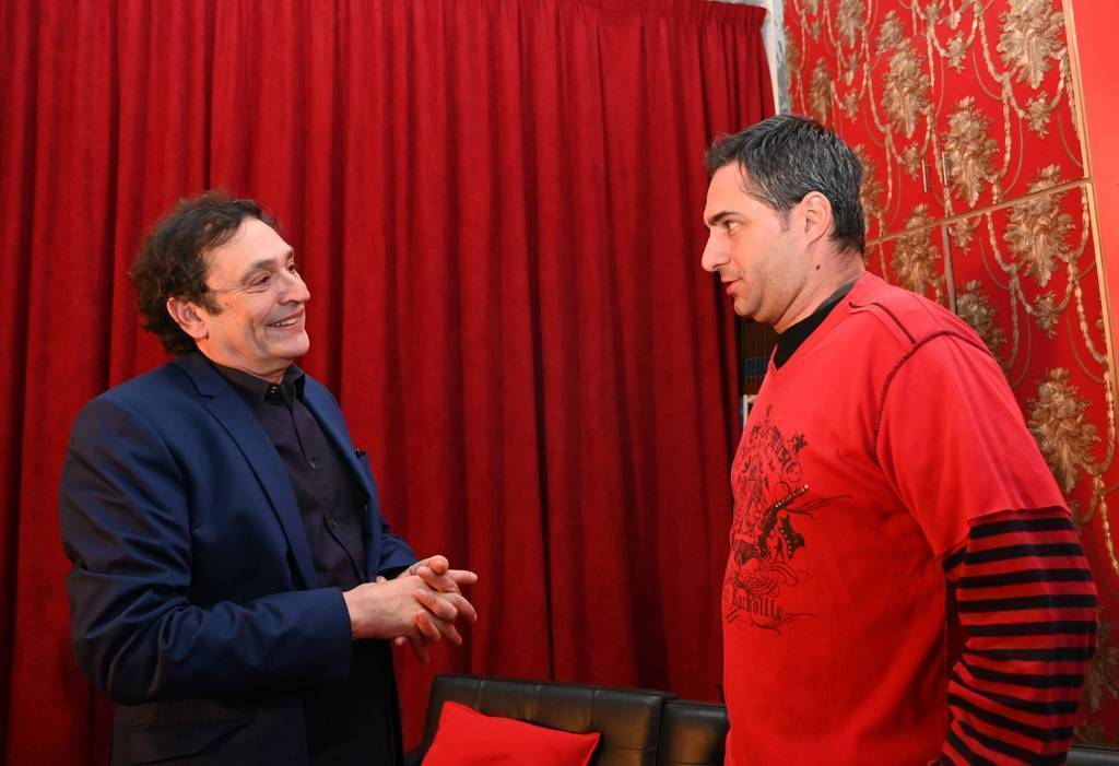 La presencia en Dubai del director Agustí Villaronga despertó gran interés. (EL CORREO)
