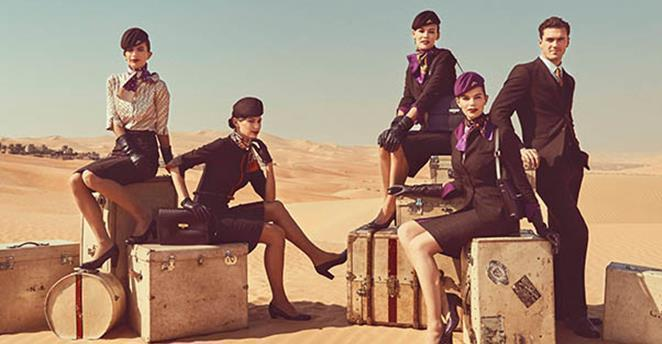 Personal de cabina de Etihad Airways. (Fuente externa)