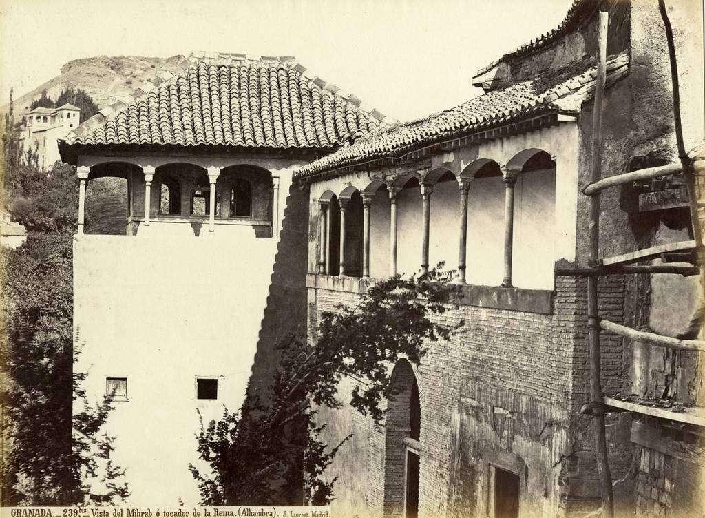 Vista del Mihrab o tocador de la Reina en la Alhambra. Autor: J. Laurent. (Cedida por el Archivo de la Alhambra)