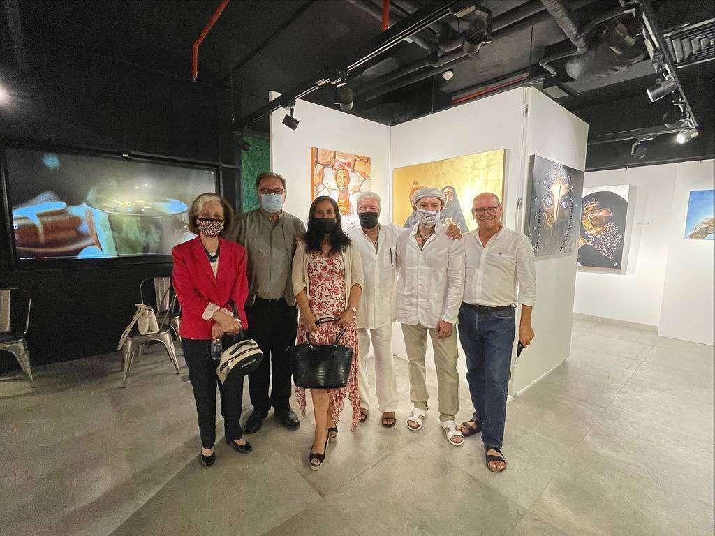 De izquierda a derecha, Inocenta Sánchez, Pedro Gilabert, Amelia Cruzado, José Soto, Leonardo Montoya y Rafael Unquiles. (EL CORREO)