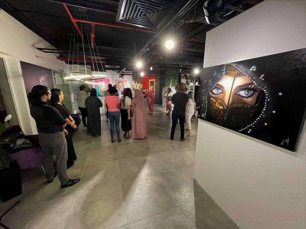 Perspectiva de la exposición de Leonardo Montoya en la Fundación Al Qasimi en Ras Al Khaimah. (EL CORREO)