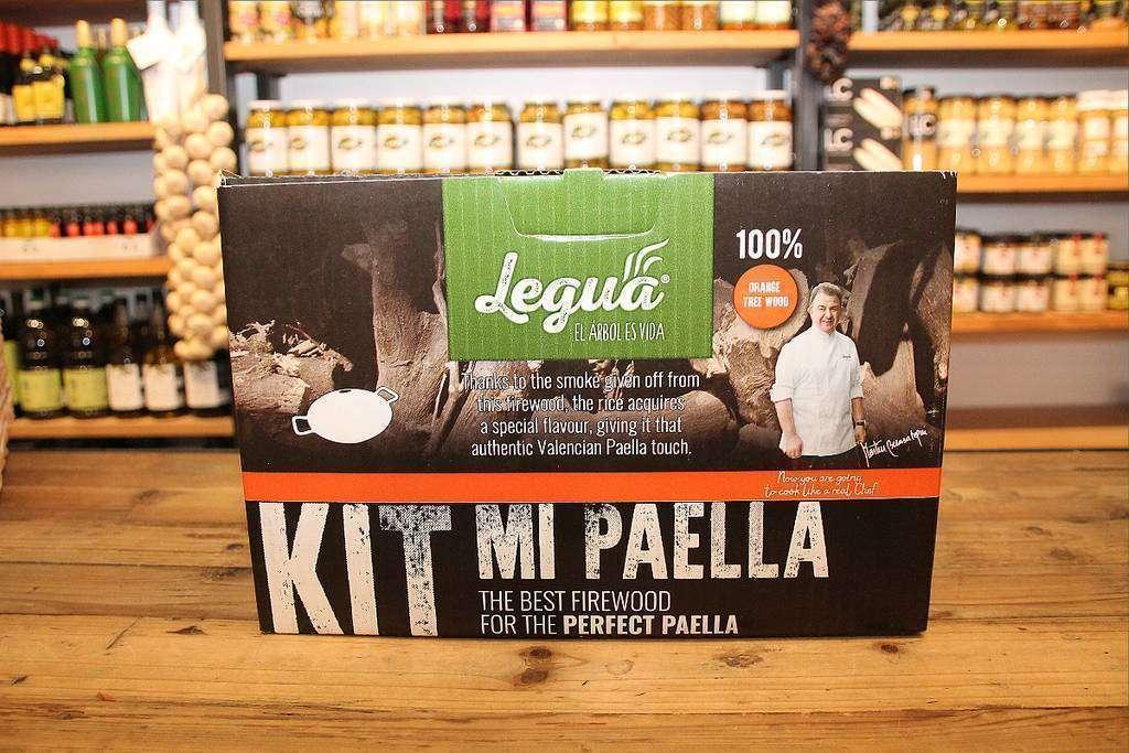Kit de leña de naranjo para elaborar las más exquisitas paellas. (EL CORREO)