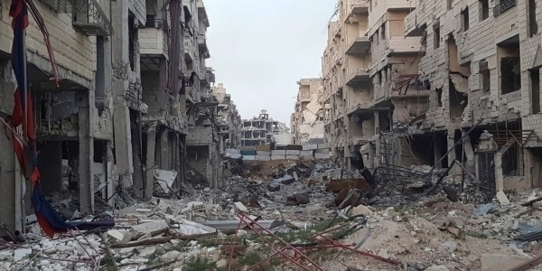 La ciudad siria de Daraa, devastada por la guerra. (Fuente externa)
