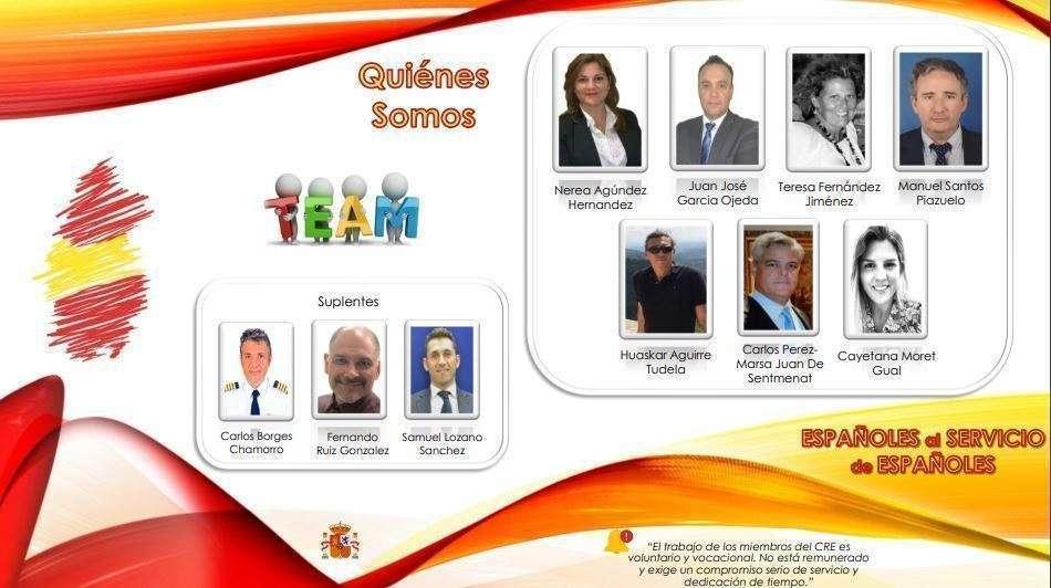 Integrantes de la candidatura para el Consejo de Residentes Españoles en Qatar.