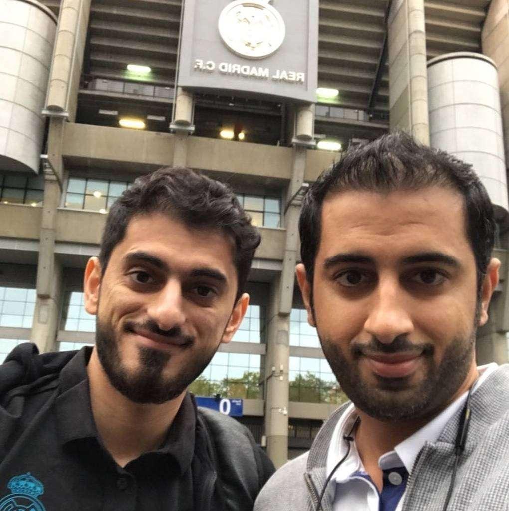 Essa Younes, con su hermano Abdulrahman. (Cedida)