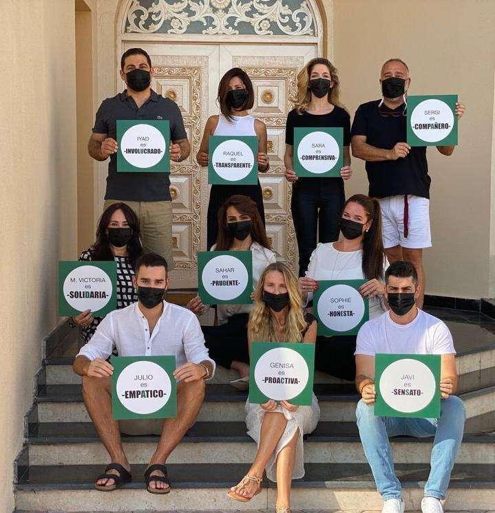Integrantes de la candidatura Consejo de Españoles en Emiratos, (Cedida)