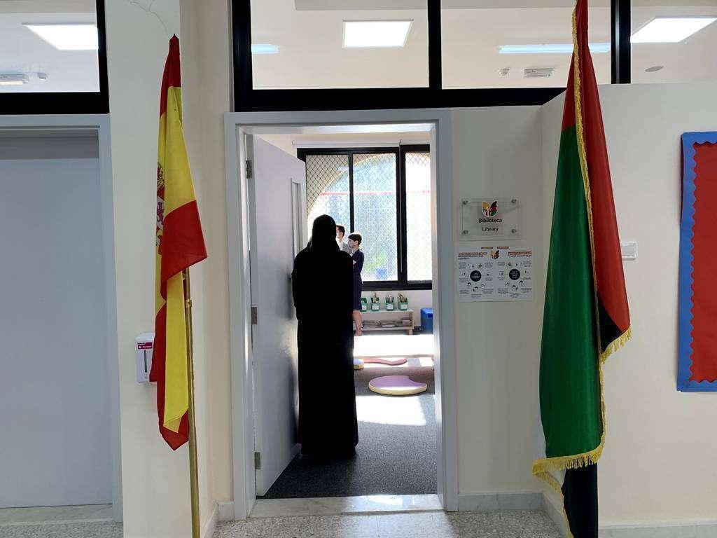 Una imagen del Colegio Español de Abu Dhabi. (EL CORREO)