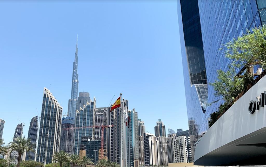Entrada principal del hotel Me Dubai. (EL CORREO)