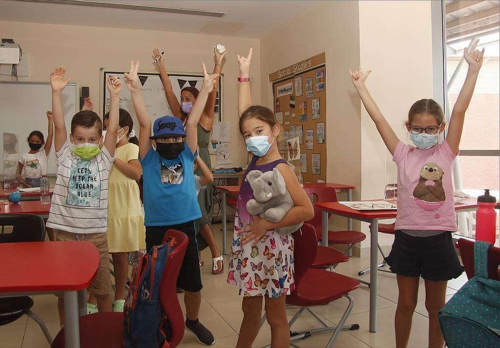 La alegría de los niños en la jornada de fin de curso. (EL CORREO)