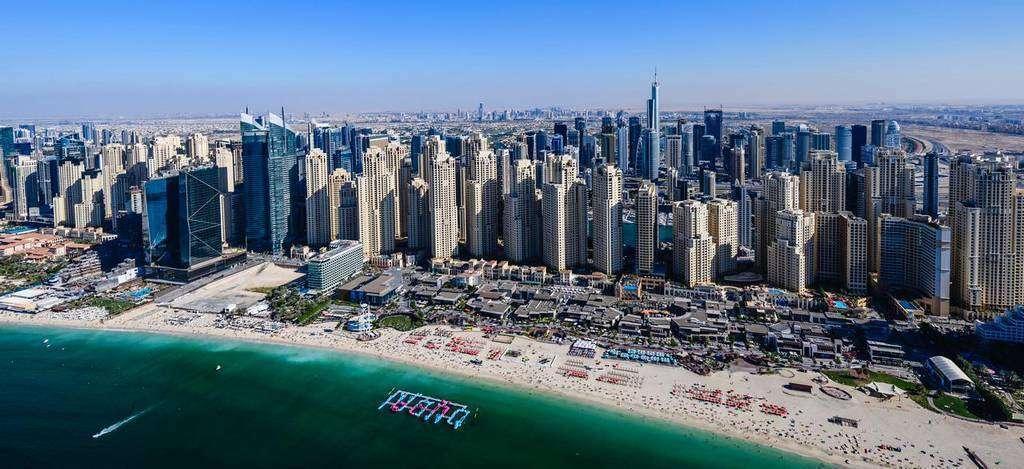 Perspectiva de JBR en Dubai. (WAM)