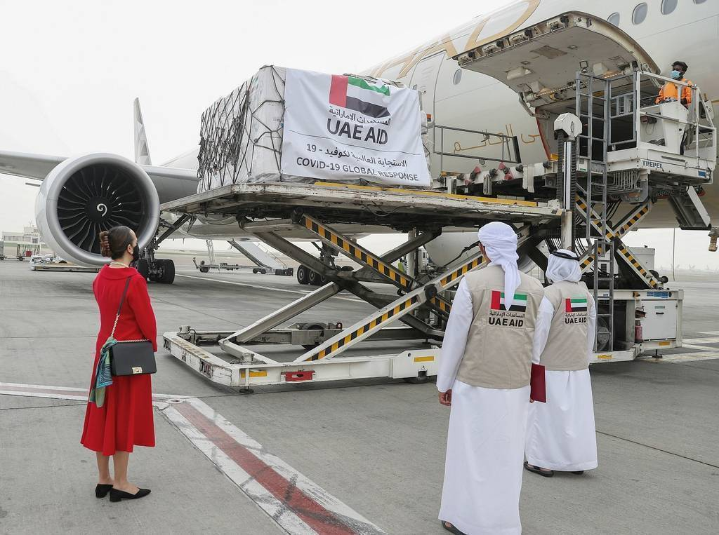 From Abu Dhabi, thousands of tons of material to fight against covid-19 have been shipped to Latin American countries. (WAM)