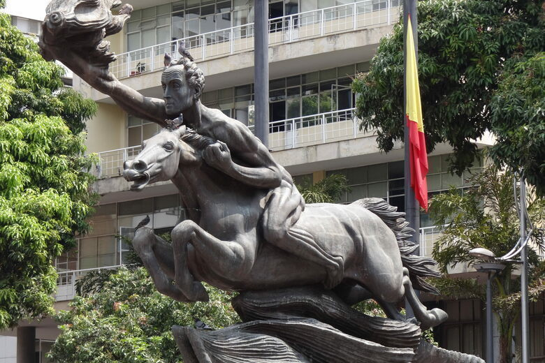 El Bolívar Desnudo. (Fuerte externa)