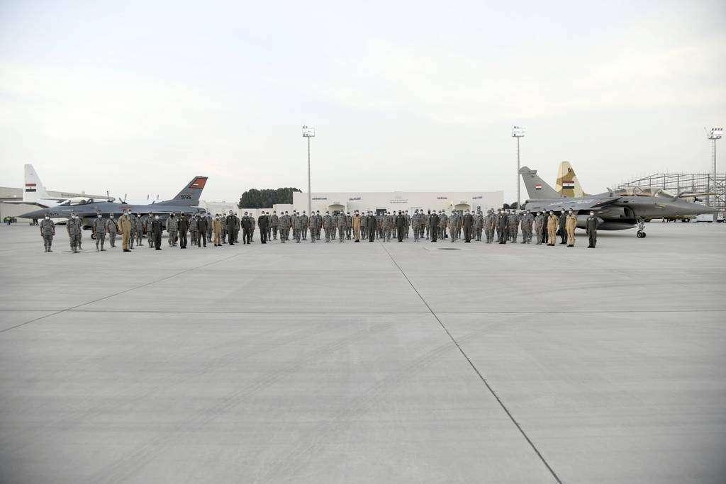 Aviones militares de Egipto, sobre territorio emiratí. (WAM)