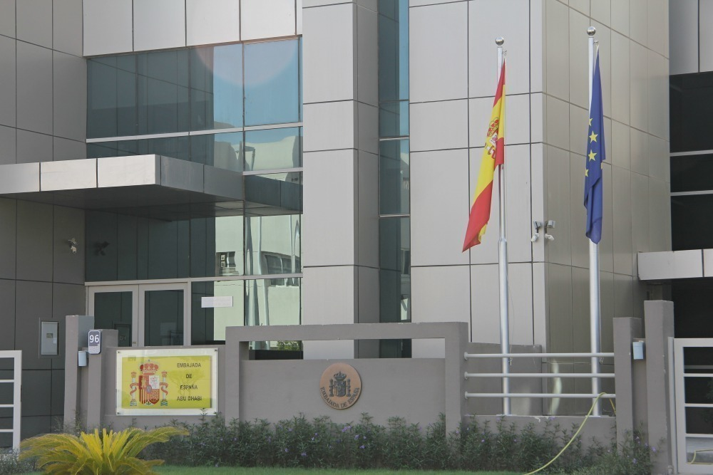 Embajada de España en Abu Dhabi. (EL CORREO)