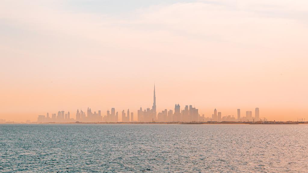 Skyline de Dubai desde un yate de Centaurus. (Cedida)