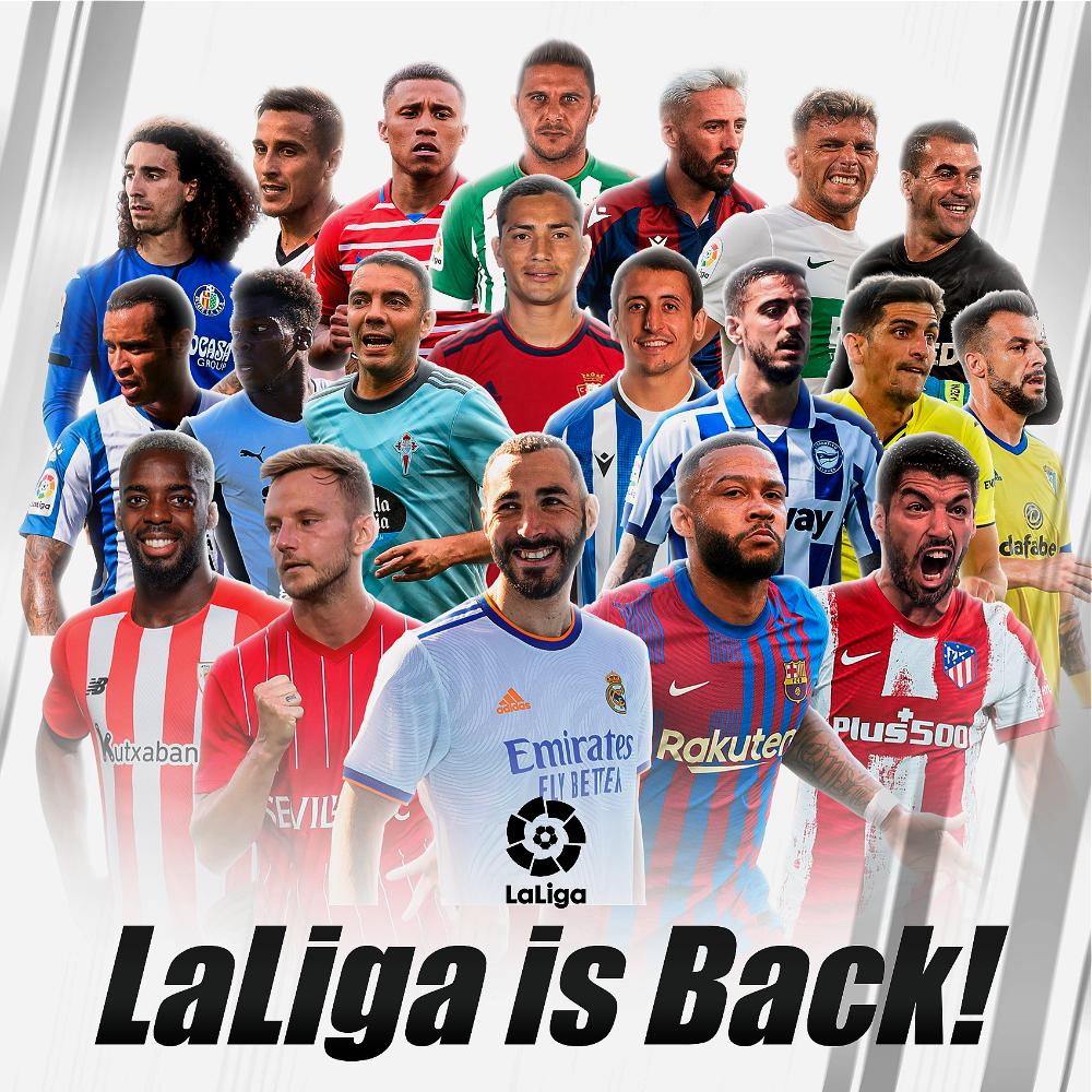 Las grandes figuras del fútbol mundial brillan en LaLiga.