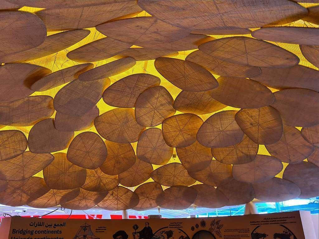 Perspectiva interior de una de las cubiertas del Pabellón de España en Expo 2020 Dubai. (Cedida)