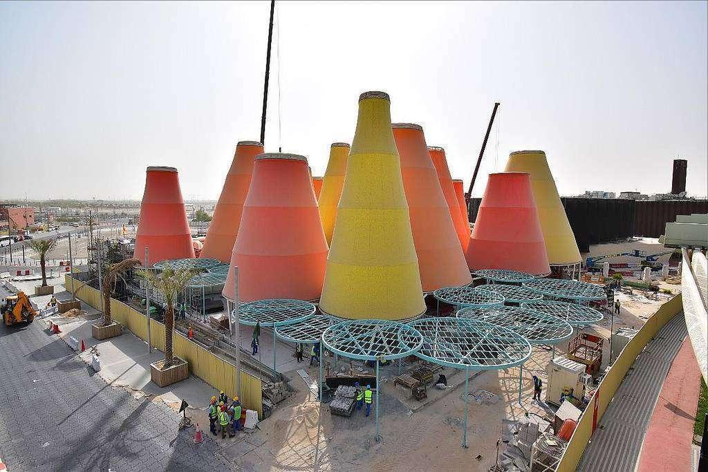 Aspecto exterior del Pabellón de España en Expo 2020 Dubai. (Cedida)