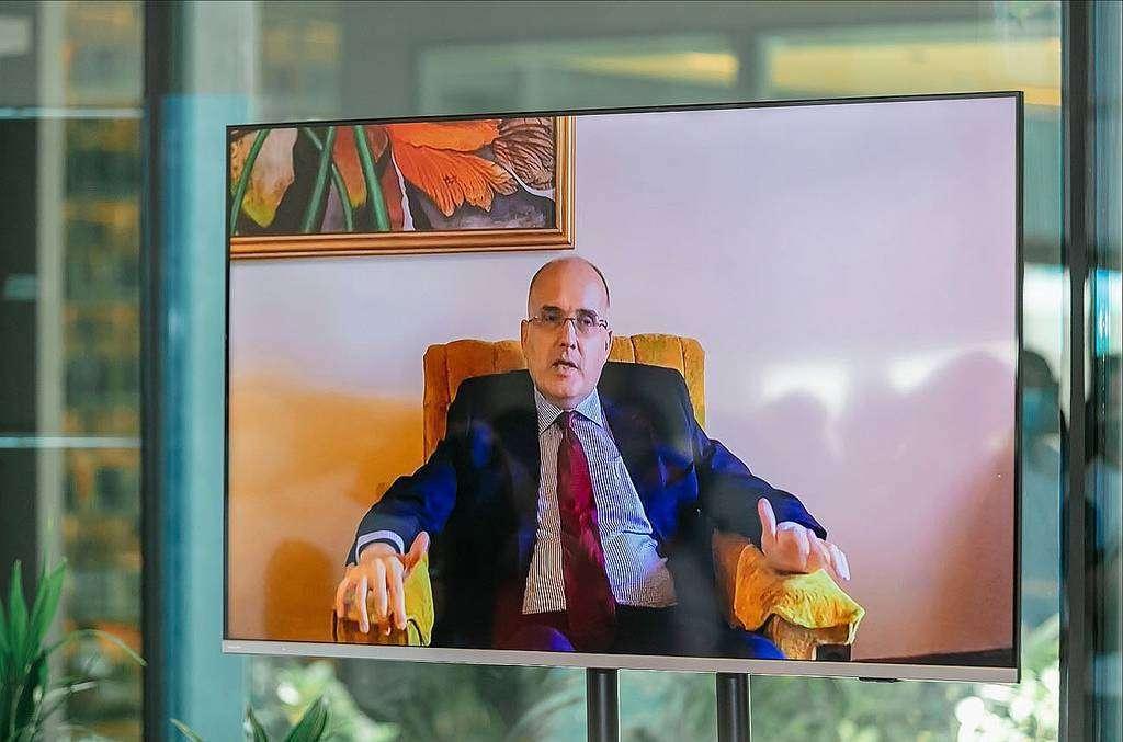 Francisco Chacón, embajador de Costa Rica, durante su intervención virtual desde San José. (WAM)