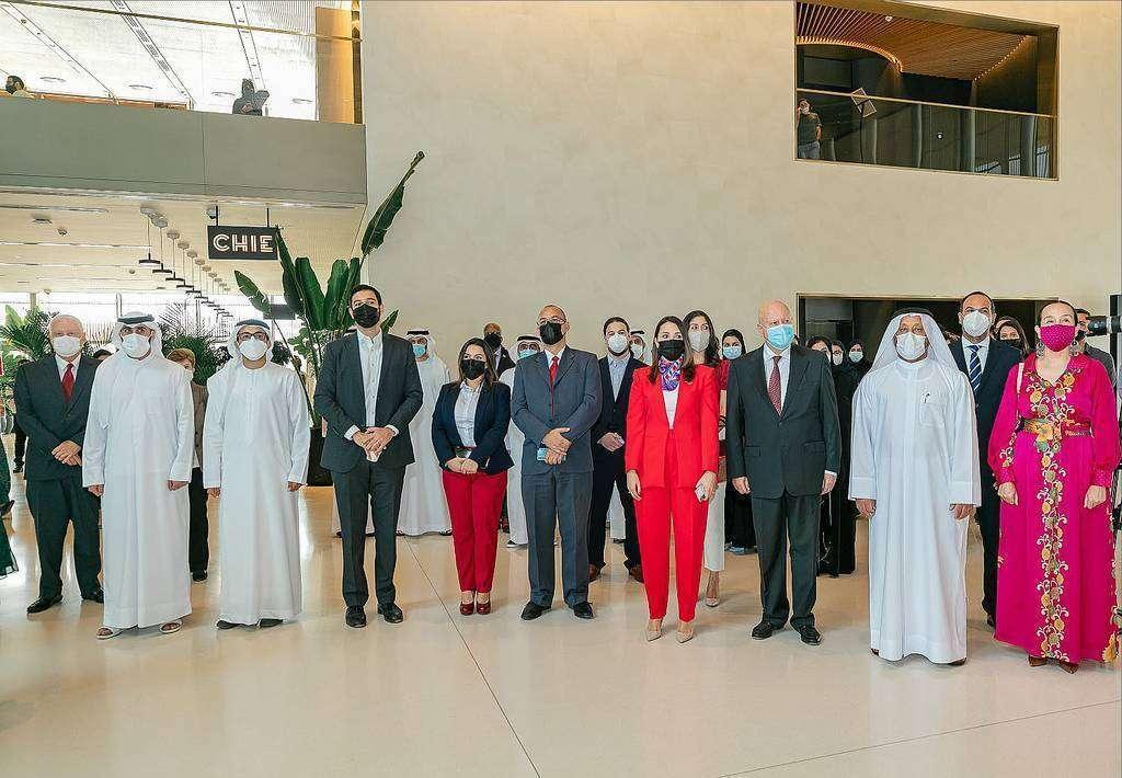 Autoridades y diplomáticos presentes en la celebración del Bicentenario. (WAM)