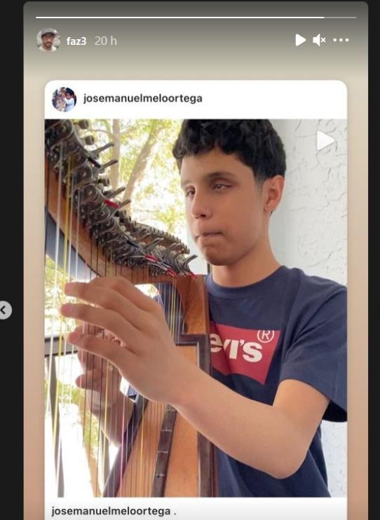 La historia de Instagram del príncipe heredero de Abu Dhabi.